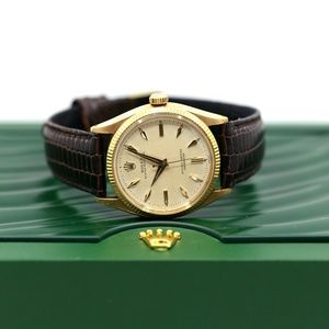 Rolex Oyster Perpetual 35mm 18k Gold